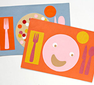 Place mat craft for kids to do at the table