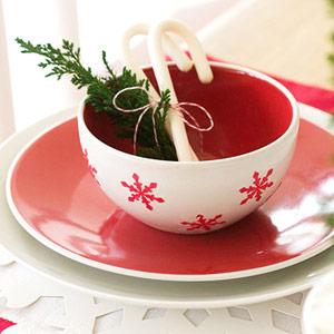 Snowflake bowl and place mat