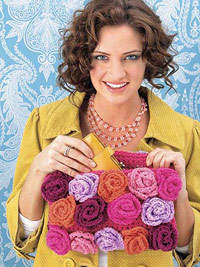 Crocheted flower purse
