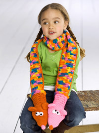 Puppet scarf for kids