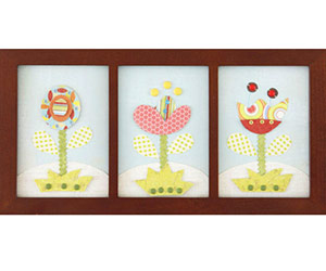 Framed flower shapes from paper