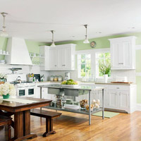 Eat-in Kitchen with Similar Colors