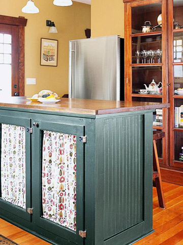 Antique Cabinet Turned Kitchen Island