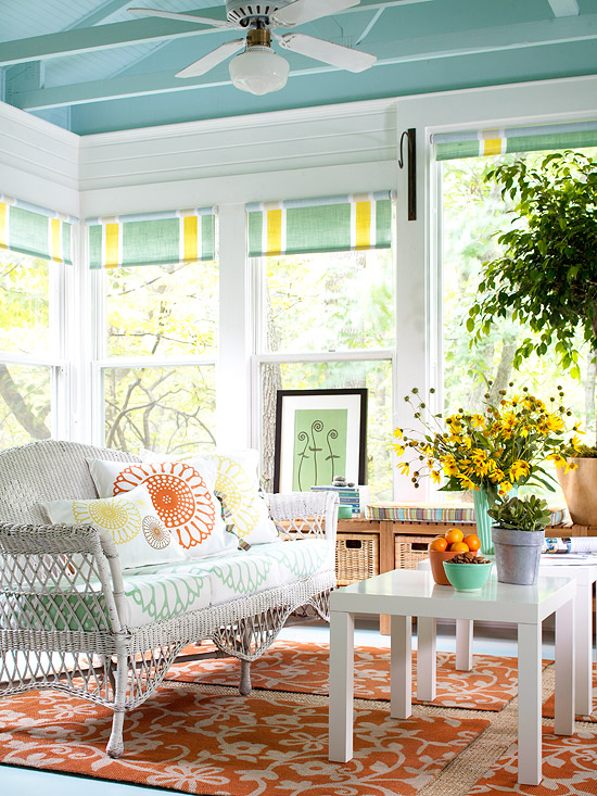 Colorful Sunroom Decor