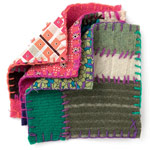 Pot holders made from recycled sweaters