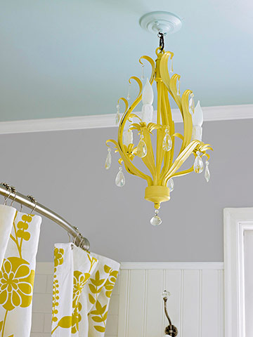 Yellow chandelier