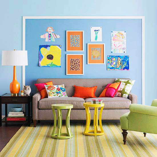 Kids Art Gallery With Magnetic Paint