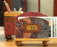 pencil holder and letter holder