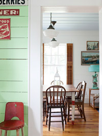 Doorway to dining table