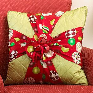 pillow with a touch of Christmas style