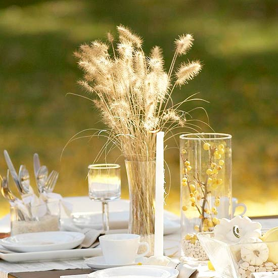 Simple Wheat Centerpiece