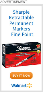 Sharpie Retractable Permanent Markers Fine Point