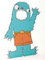 Blue Monster Cut-Out