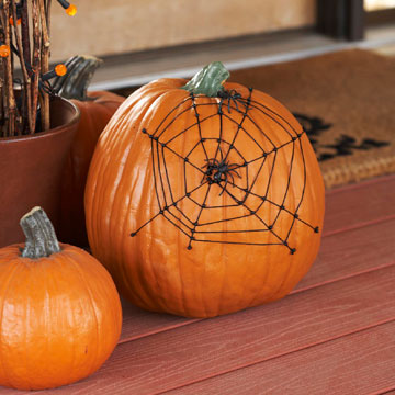 Tangled Web Pumpkin by BHG