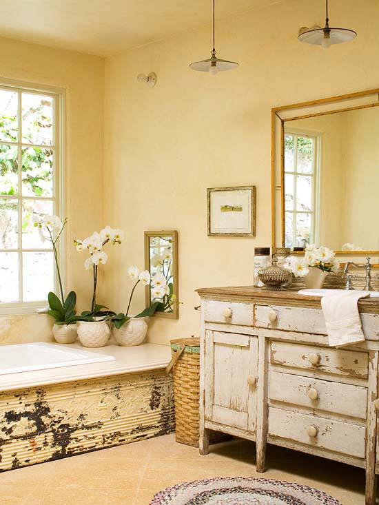 Bathroom with country vanity