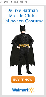 Deluxe Batman Muscle Child Halloween Costume