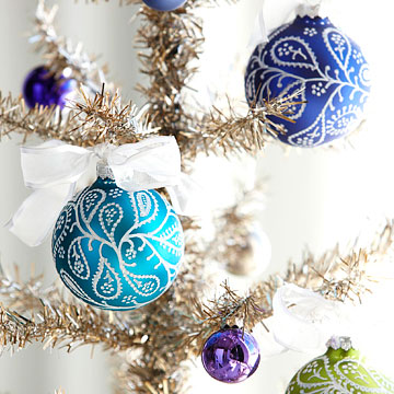 Paisley Gems Ornaments