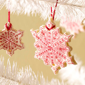 Salt-Dough Snowflake Ornament