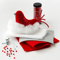 Red Felt Bird supplies