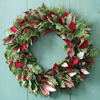 Layered Leaf Wreath