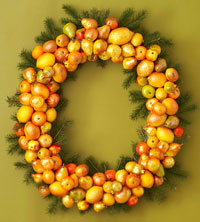 Artificial Fruit Wreath