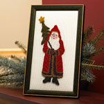 Needle Punch Santa Portrait