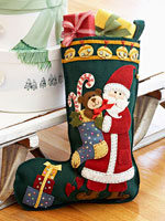 Santa Applique Stocking