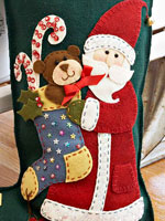 Applique Santa and stocking