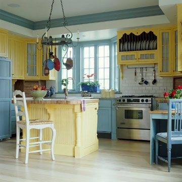 Color-Coordinated Cabinetry