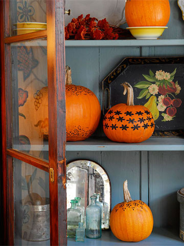 Pumpkins on Display