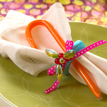 Holly Bead Napkin Rings