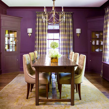 Design burst cozy color schemes for fall for Purple dining room