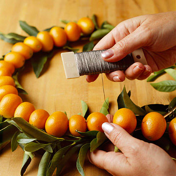 Kumquat Wreath How-To