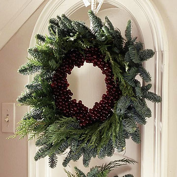 Evergreen & Grape Wreath