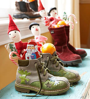Boots with elves and candy