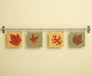 Pressed leaf garland