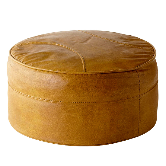 Leather ottoman before