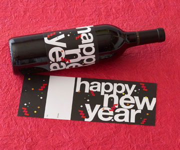 Happy New Year Wine Label