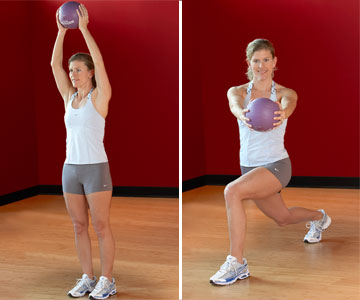 Lunge and Twist with Medicine Ball