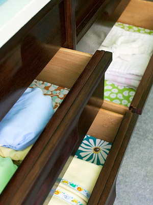 Decorated dresser drawers