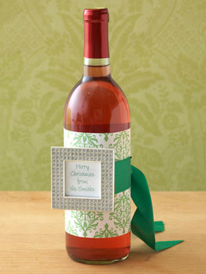 Paper and Frame Wine Wrap