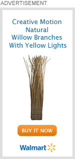 Creative Motion Natural Willow Branches With Yellow Lights