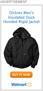 Dickies Men's Insulated Duck Hooded Rigid Jacket