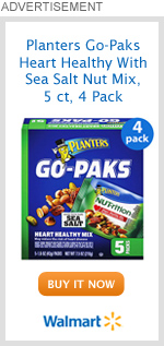 Planters Go-Paks Heart Healthy With Sea Salt Nut Mix, 5 ct, 4 Pack