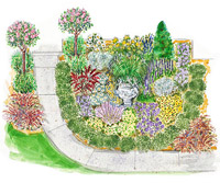 Sun-Loving Southern Garden Plan Illustration