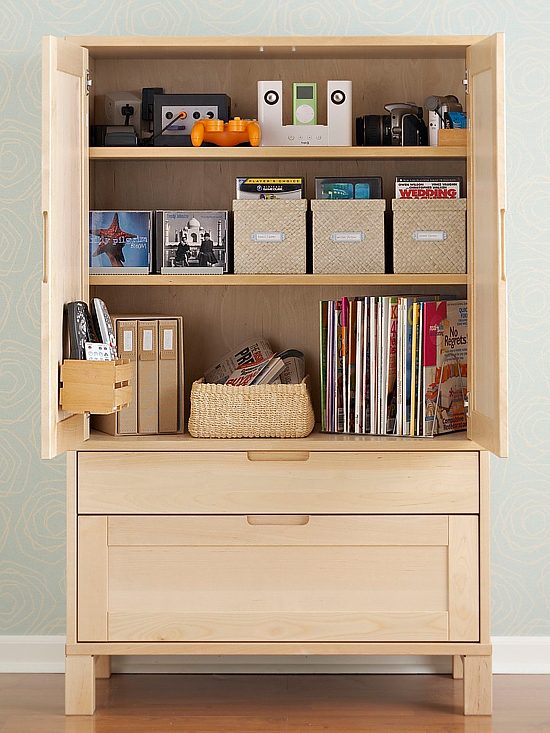 entertainment family room armoire storage