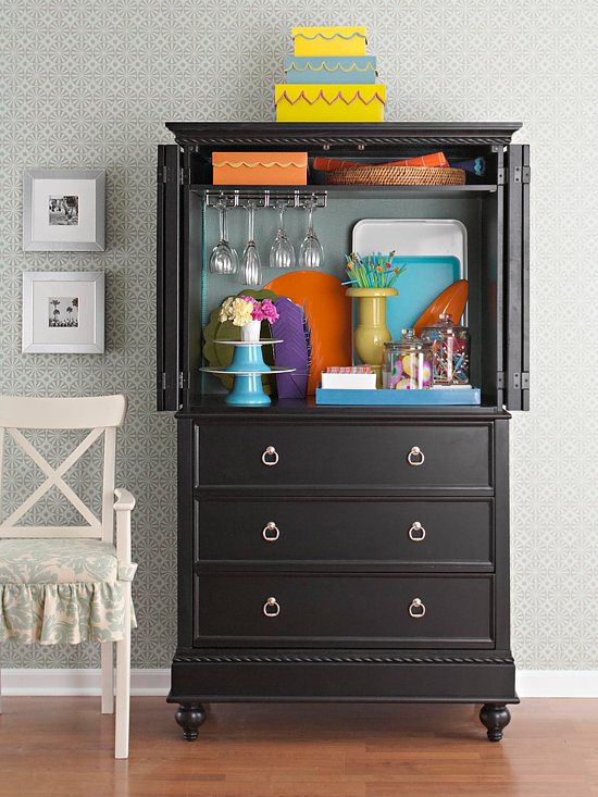 beverage entertaining armoire storage