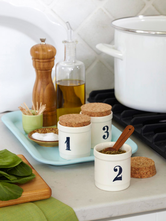Cork-stopped ceramic canisters