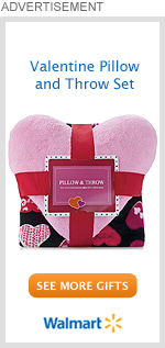Valentine Pillow and Throw Set