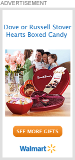 Dove or Russell Stove Hearts Boxed Candy